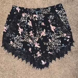 Floral dress shorts